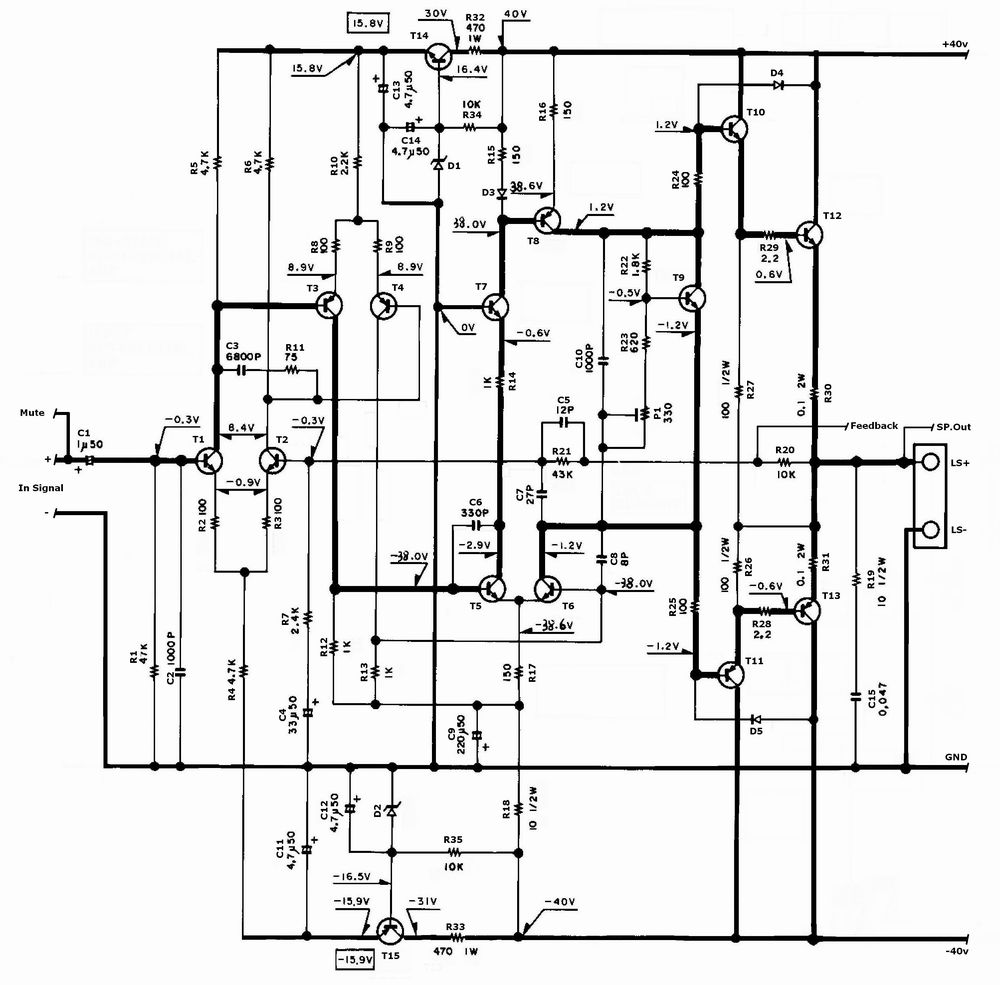 Electronica Projects Charge Sensitive Amplifier Circuit The Second Stage Is Responsible For All Voltage Gain Maximum Swing In An Audio Power This Why Generally Known