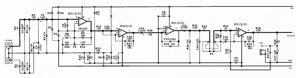 The circuit can be seen in Picture 4 and the supply circuit can be seen in Picture 2 it is consist of several parts. The circuit is placed before the audio ...
