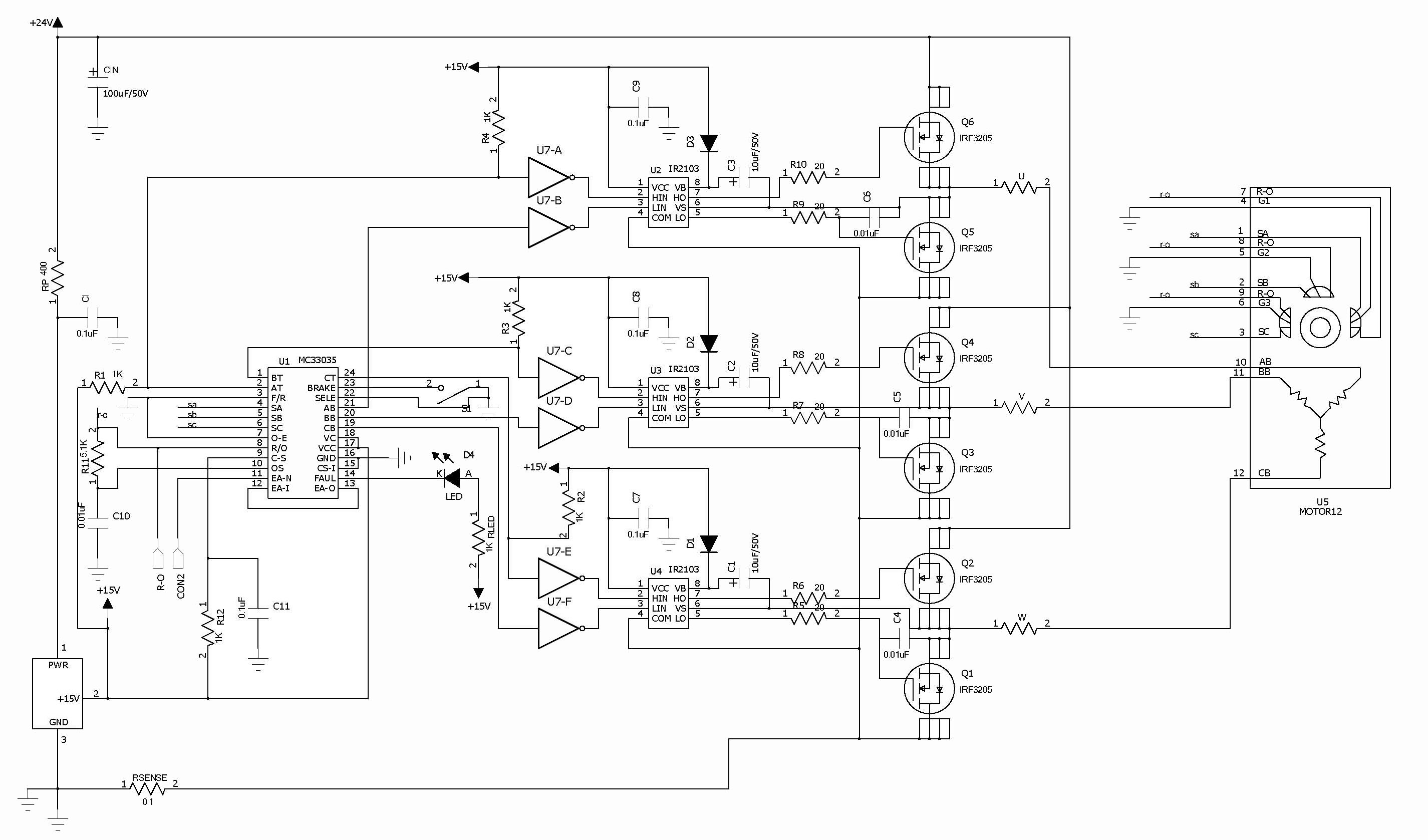 Electronica Projects Dc Motor Controller Diagram Image Fully Accessible Error Amplifier For Closed Loop Servo Applications High Current Drivers Can Control External 3phase Mosfet Bridge